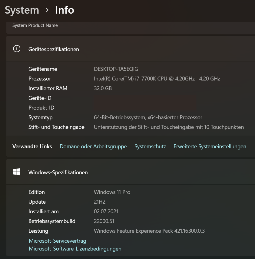 Install Windows 11 on non-compatible CPU (i7-7700k) and ASUS Z270-A